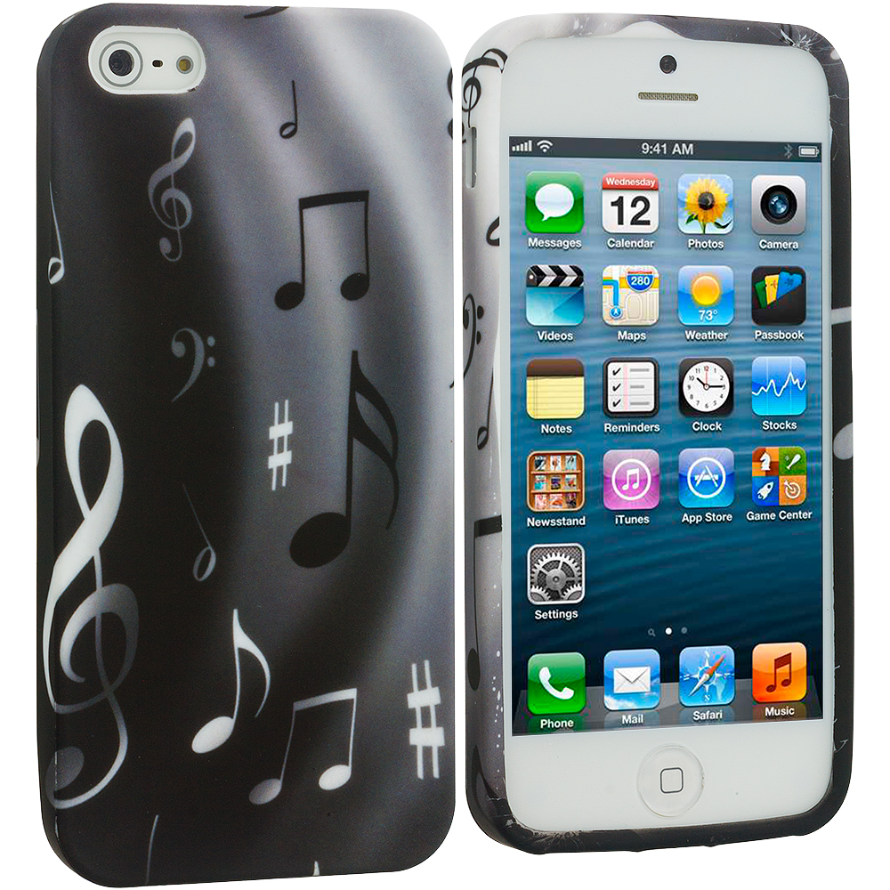 Apple iPhone 5/5S/SE Musical Notes TPU Design Soft Case Cover