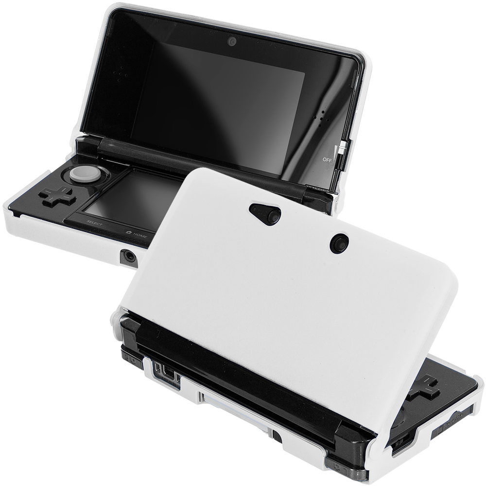 Nintendo 3DS White Hard Rubberized Case Cover