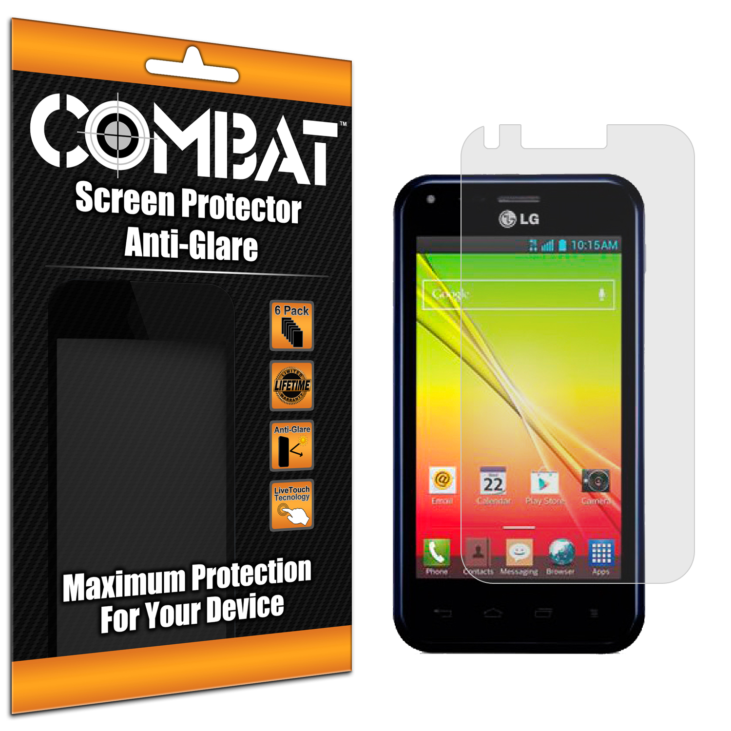LG Optimus F3Q Combat 6 Pack Anti-Glare Matte Screen Protector