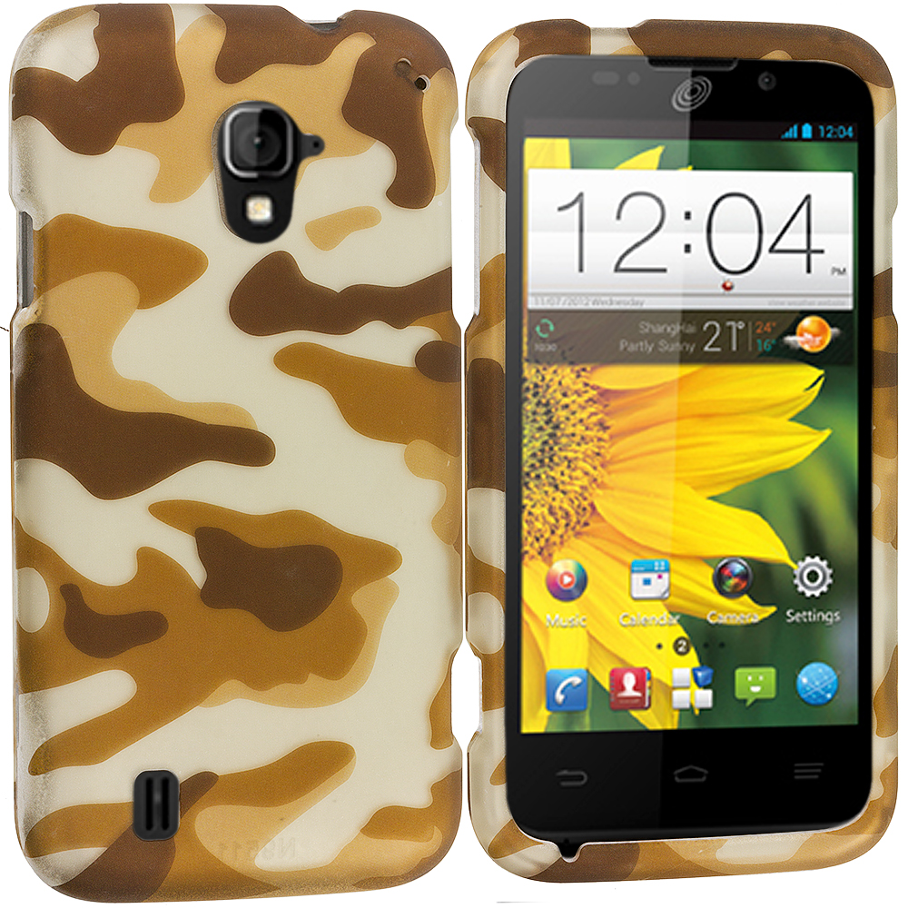 ZTE Majesty Z796C Camo 2D Hard Rubberized Design Case Cover