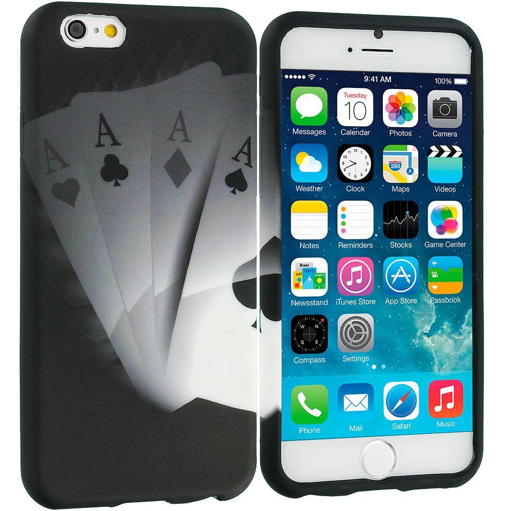 Apple iPhone 6 Plus 6S Plus (5.5) Ace Cards TPU Design Soft Rubber Case Cover