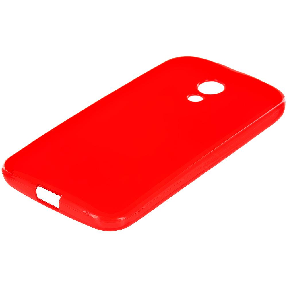 Motorola Moto G 2nd Gen 2014 Red TPU Rubber Skin Case Cover