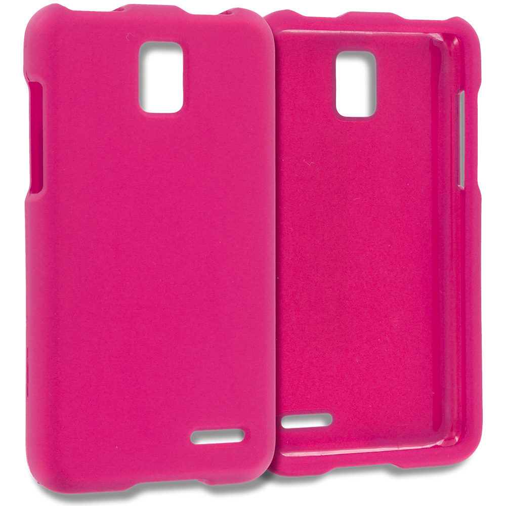 ZTE Rapido Z932C Hot Pink Hard Rubberized Case Cover