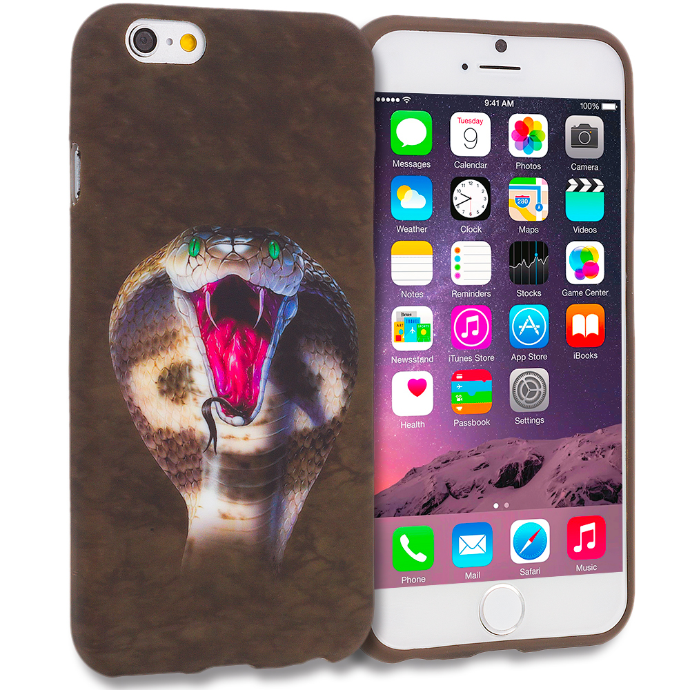 Apple iPhone 6 6S (4.7) 11 in 1 Combo Bundle Pack - TPU Design Soft Rubber Case Cover : Color Kobra