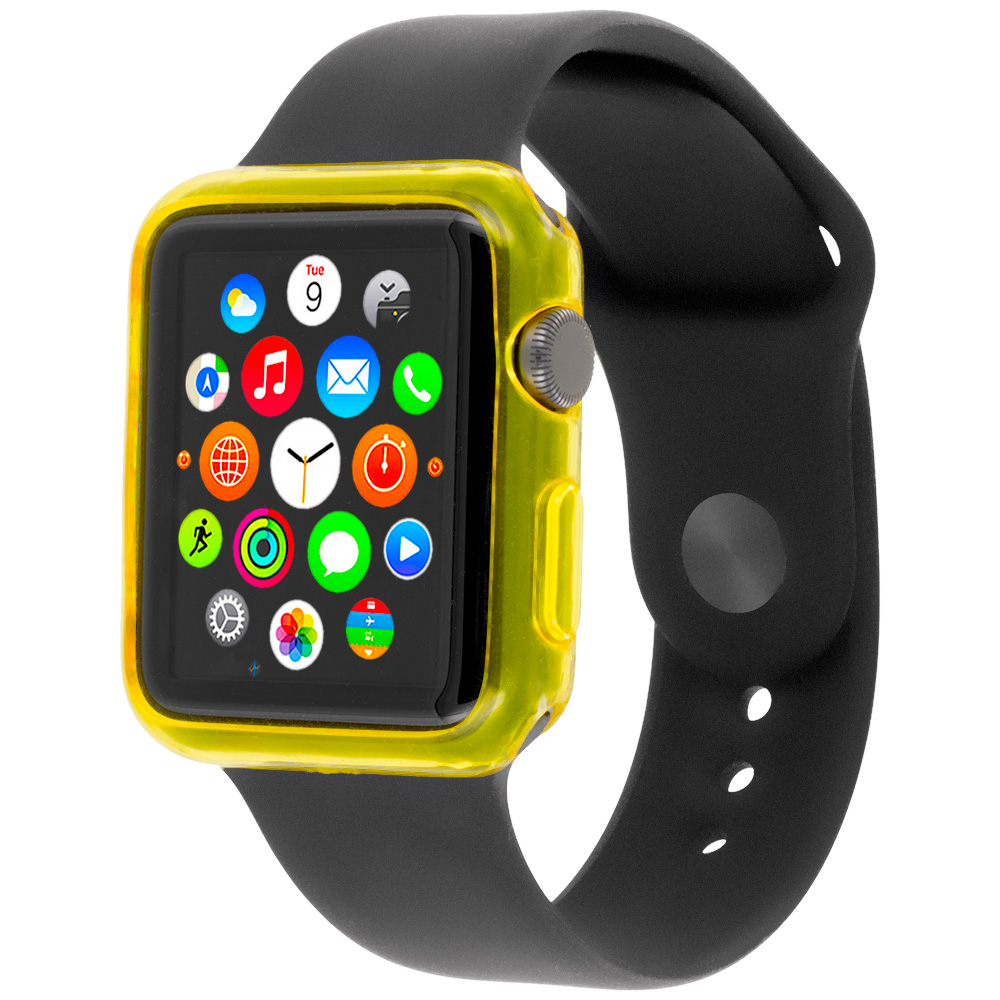 Apple Watch 42mm Yellow TPU Rubber Skin Case Cover