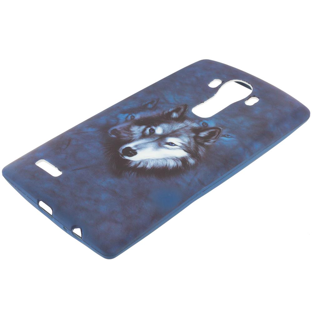 LG G4 Wolf TPU Design Soft Rubber Case Cover