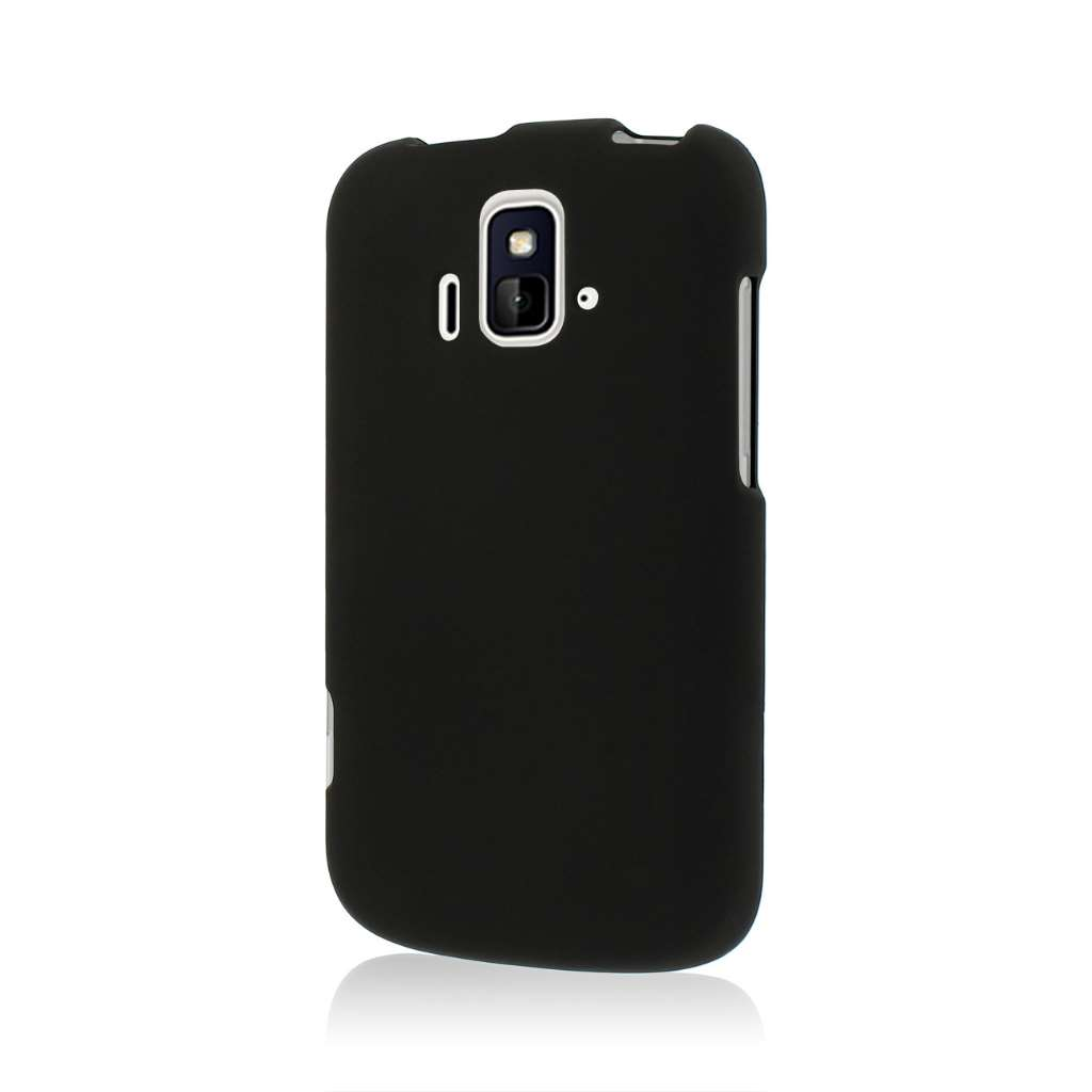 ZTE Radiant - Black MPERO SNAPZ - Rubberized Case Cover