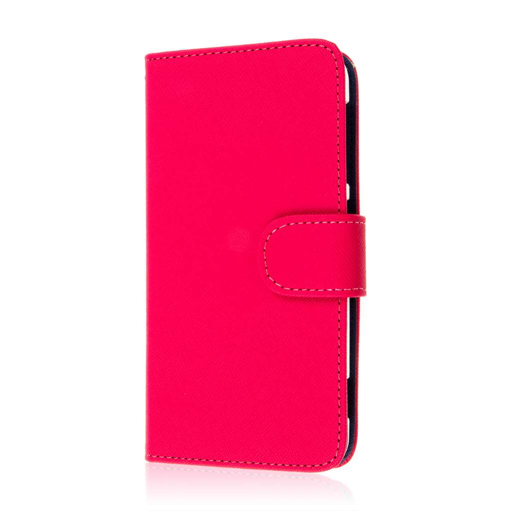HTC Desire EYE - Hot Pink MPERO FLEX FLIP Wallet Case Cover