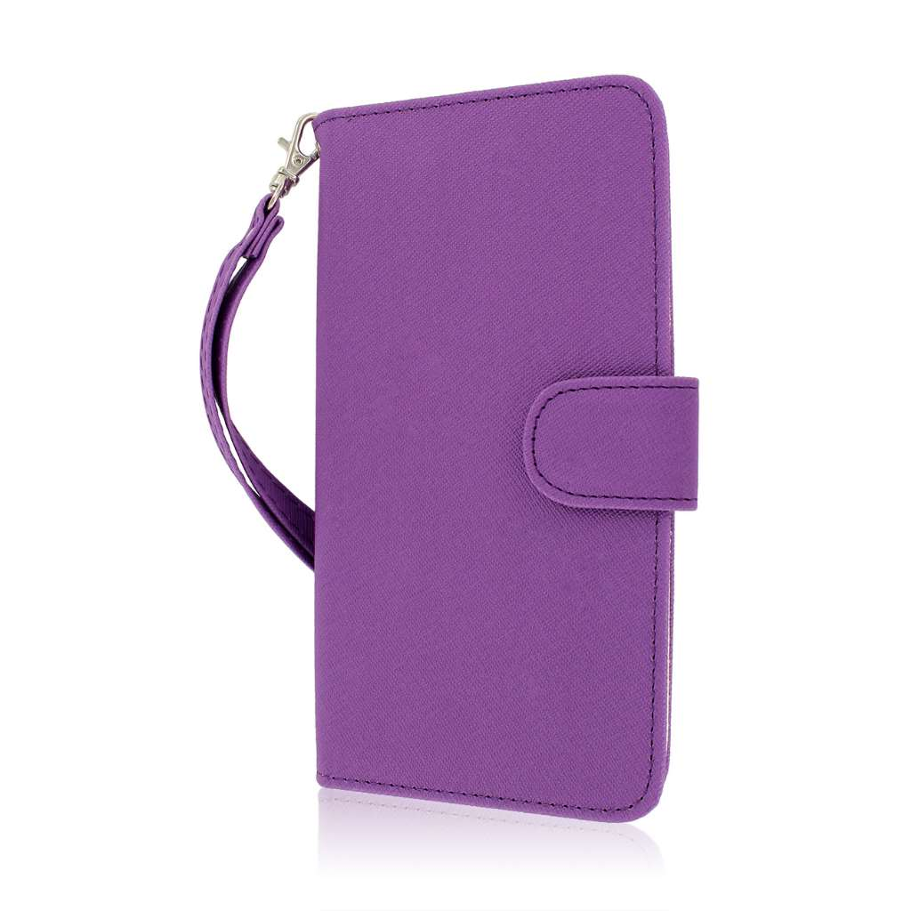 LG G Flex - Purple MPERO FLEX FLIP Wallet Case Cover