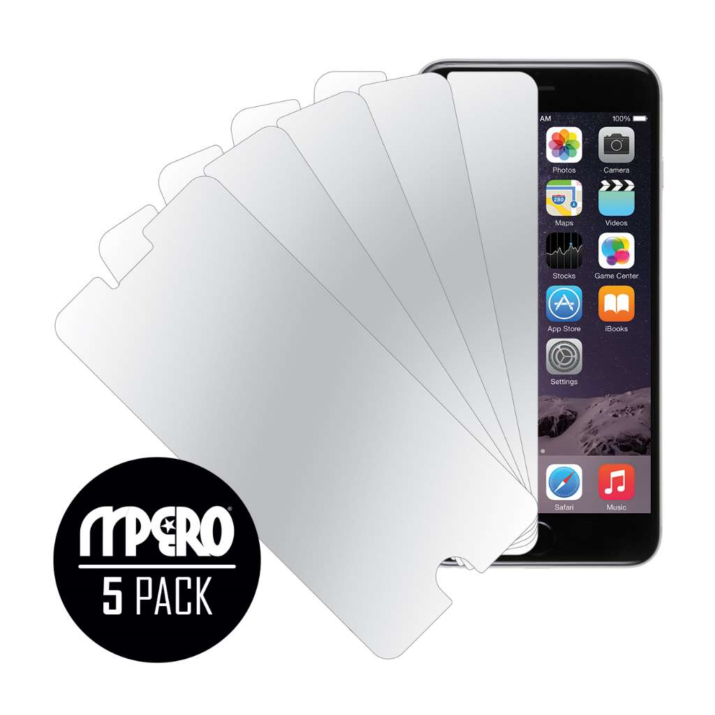Apple iPhone 6 Plus / 6S Plus MPERO 5-Pack of Mirror Screen Protectors