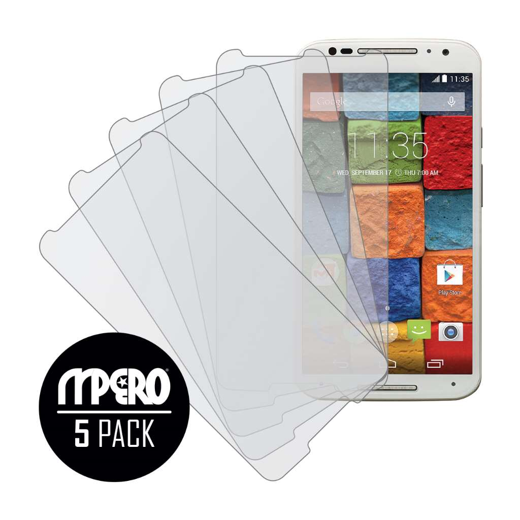 Motorola Moto X 2014 2nd Gen MPERO 5 Pack of Matte Screen Protectors