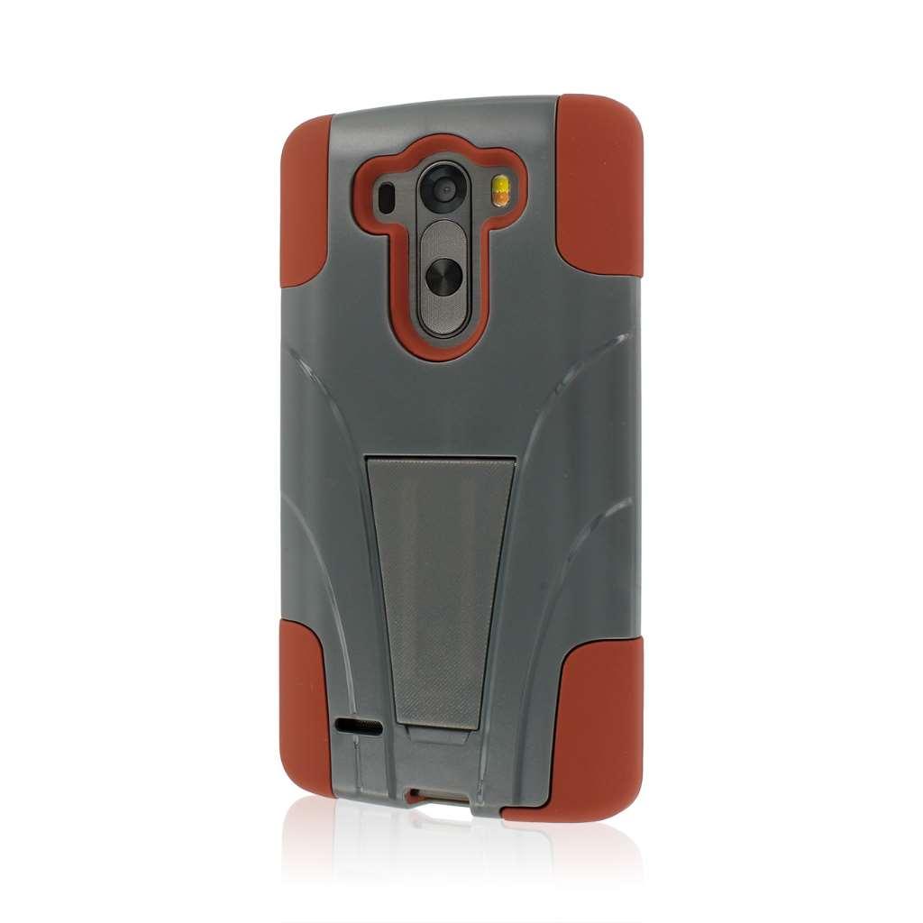 LG G3 - Sandstone / Gray MPERO IMPACT X - Kickstand Case Cover