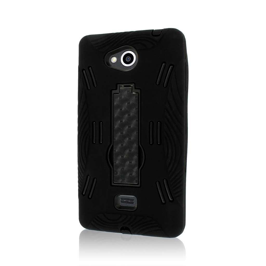 LG Spirit MS870 - Black MPERO IMPACT XL - Kickstand Case Cover