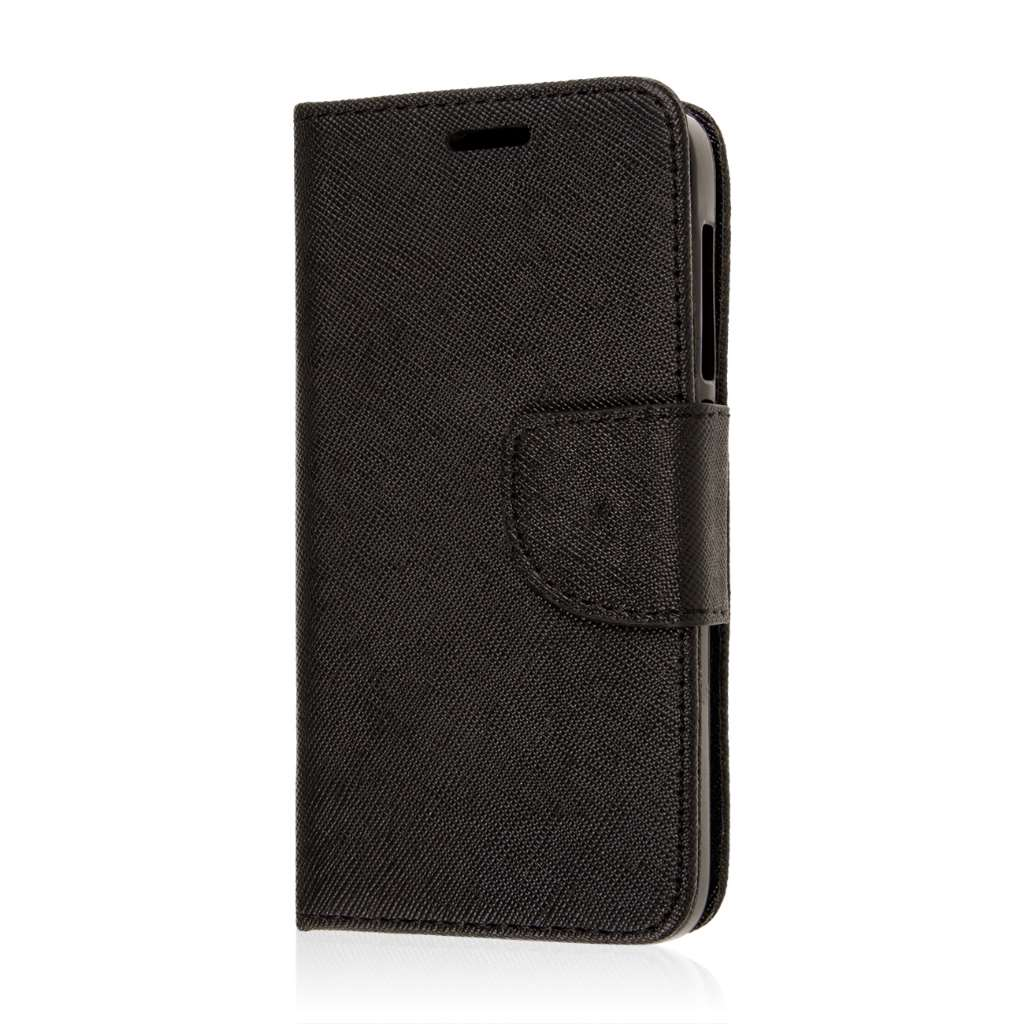Alcatel OneTouch Pop Astro - Black MPERO FLEX FLIP 2 Wallet Stand Case Cover