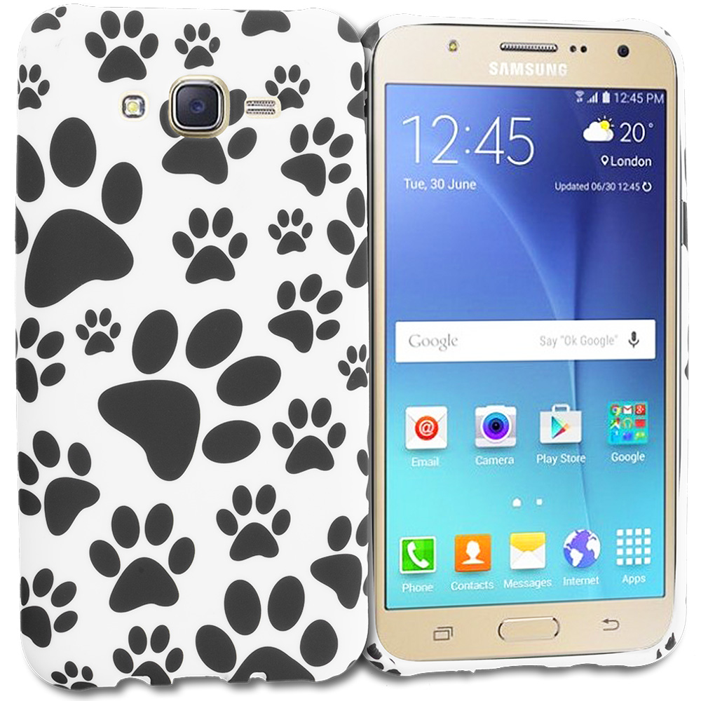 Samsung Galaxy J7 Dog Paw TPU Design Soft Rubber Case Cover