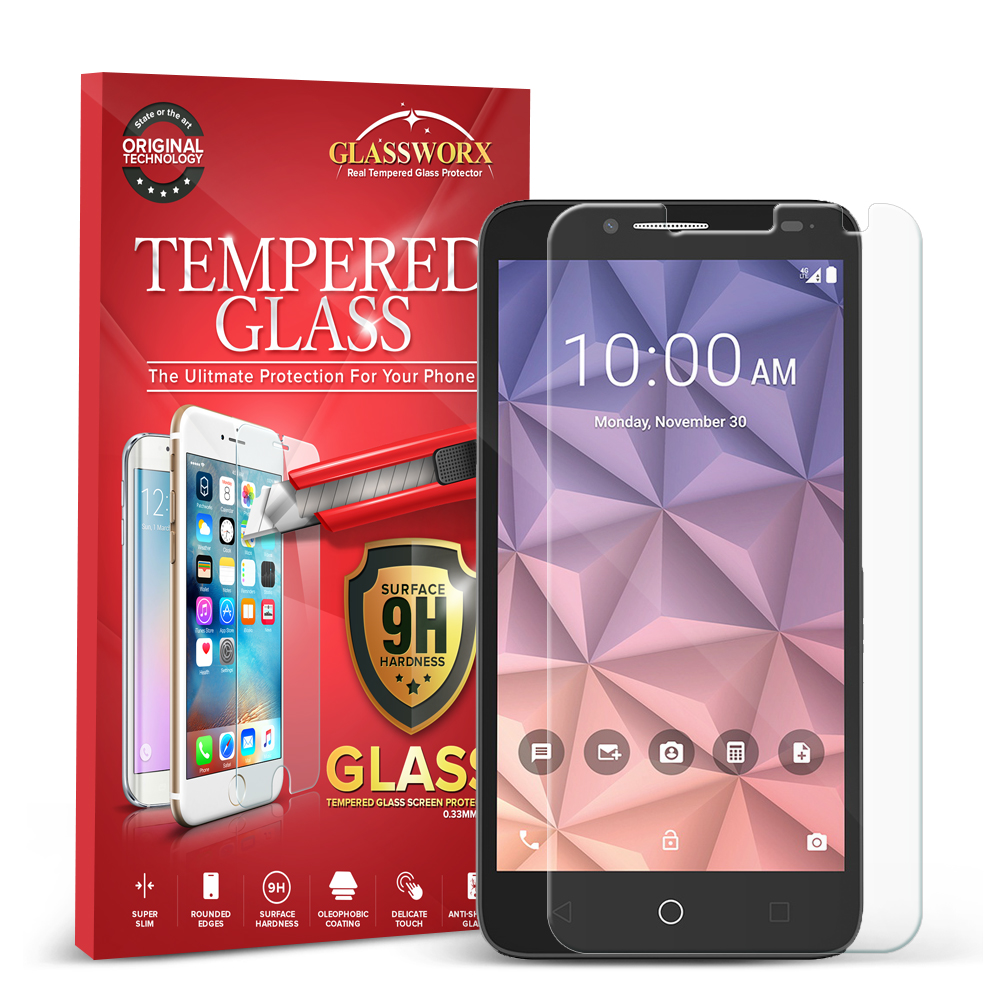 Alcatel OneTouch Fierce XL GlassWorX HD Clear Tempered Glass Screen Protector