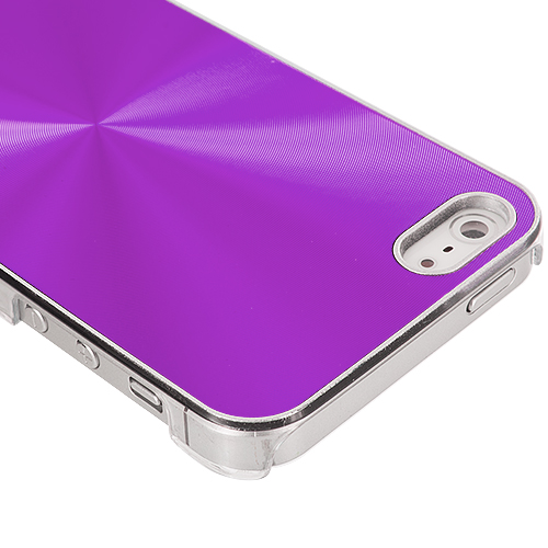 Apple iPhone 5/5S/SE Purple Aluminum Circles Case Cover