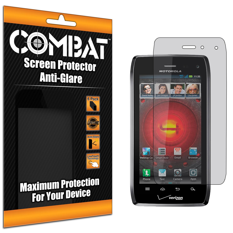 Motorola Droid 4 XT894 Combat 6 Pack Anti-Glare Matte Screen Protector