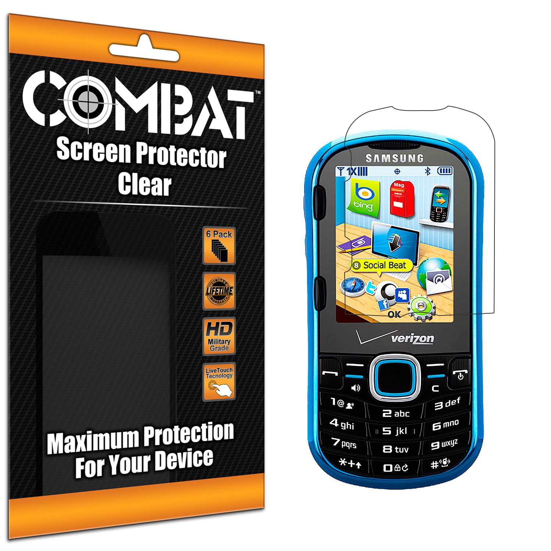 Samsung Intensity II U460 Combat 6 Pack HD Clear Screen Protector