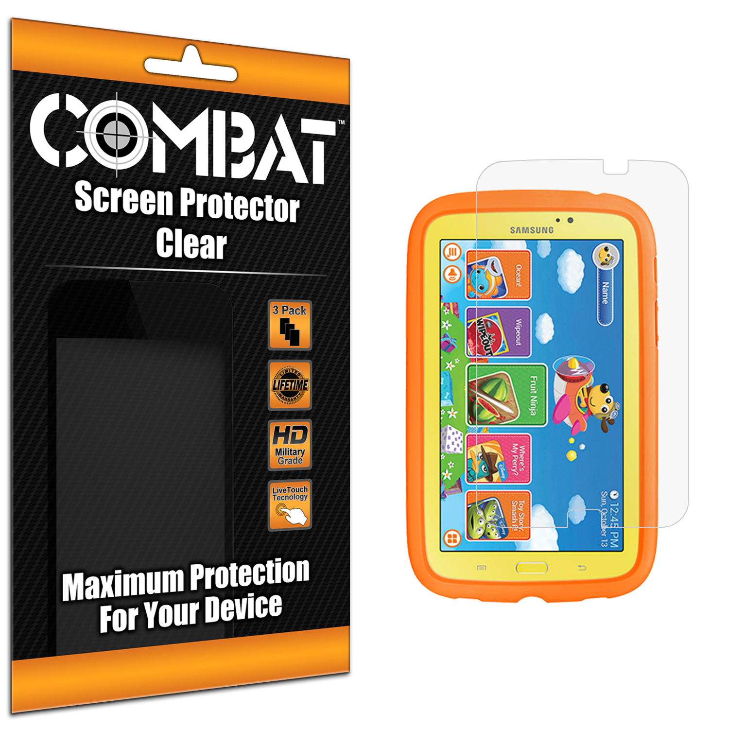 Samsung Galaxy Tab 3 Kids Combat 3 Pack HD Clear Screen Protector