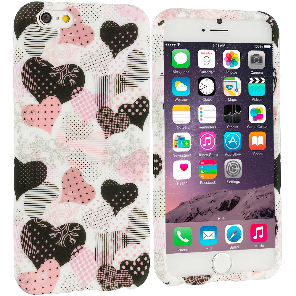 Apple iPhone 6 Plus 6S Plus (5.5) Love desert on Sliver TPU Design Soft Rubber Case Cover