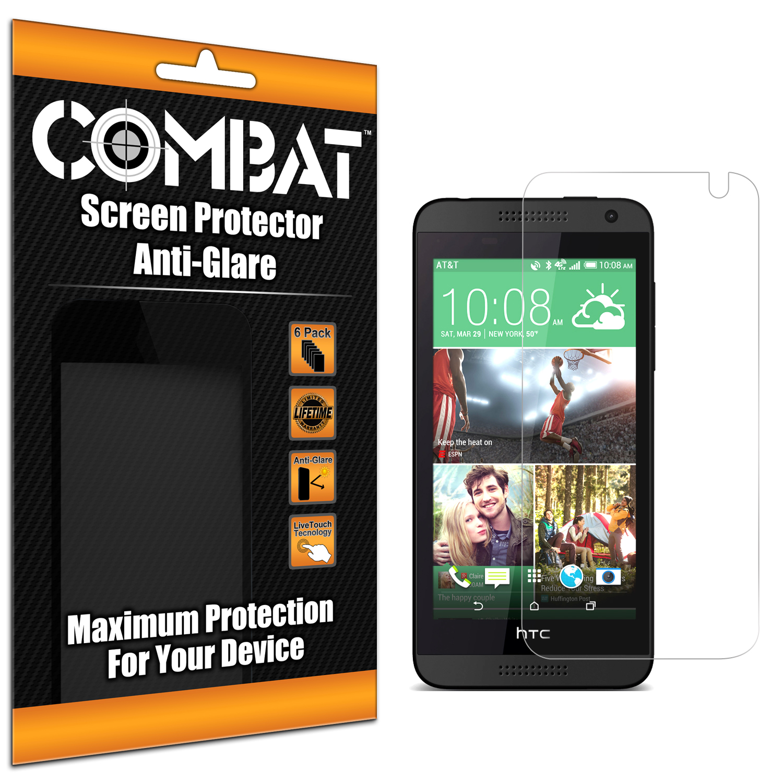 HTC Desire 610 Combat 6 Pack Anti-Glare Matte Screen Protector