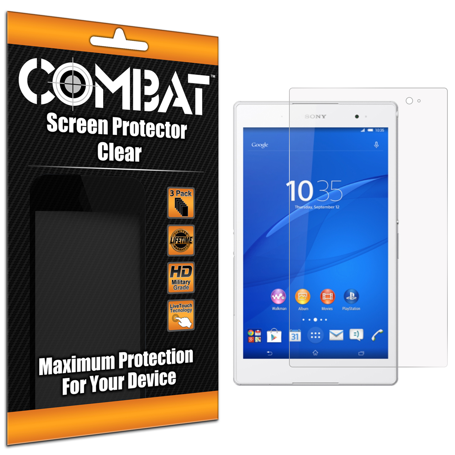 Sony Xperia Z3 Tablet Compact Clear Combat 6 Pack HD Clear Screen Protector