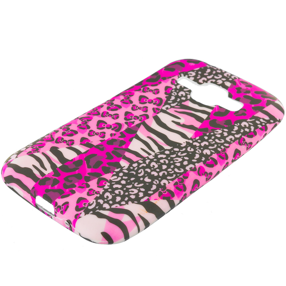 Samsung Galaxy J1 Bowknot Zebra TPU Design Soft Rubber Case Cover
