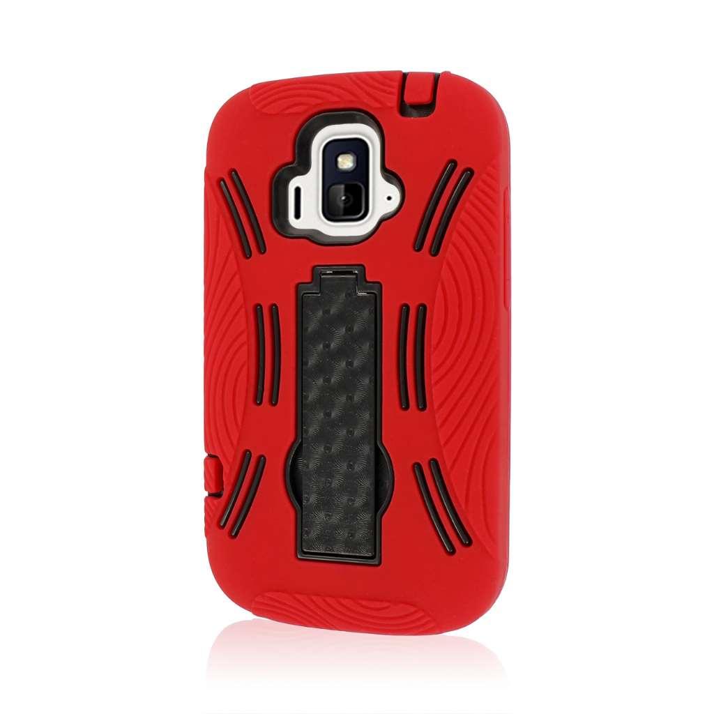 ZTE Radiant / Sonata 4G - Red MPERO IMPACT XL - Kickstand Case Cover