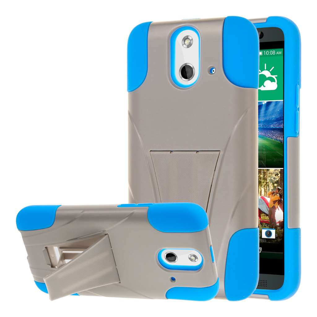 HTC One E8 - Blue / Gray MPERO IMPACT X - Kickstand Case Cover