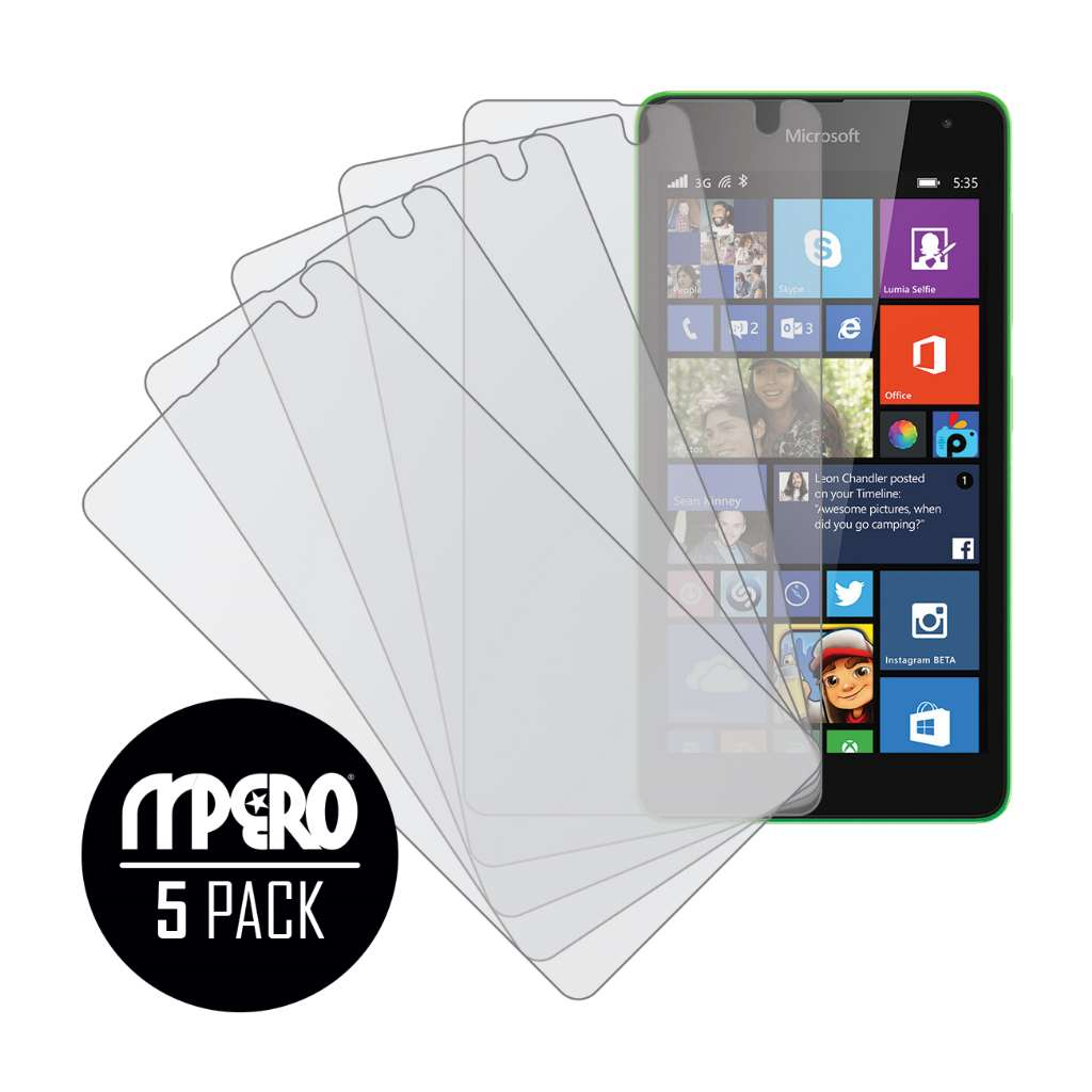 Microsoft Lumia 535 MPERO 5 Pack of Matte Screen Protectors