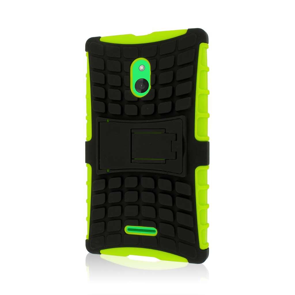 Nokia XL - Neon Green MPERO IMPACT SR - Kickstand Case Cover