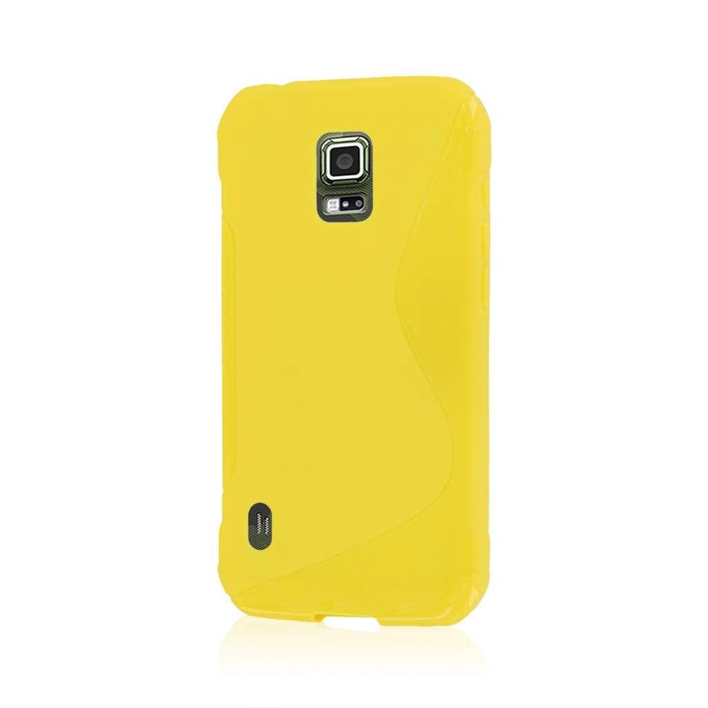 Samsung Galaxy S5 Active - Yellow MPERO FLEX S - Protective Case Cover