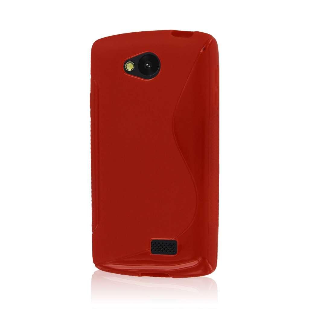 LG F60 - Red MPERO FLEX S - Protective Case Cover