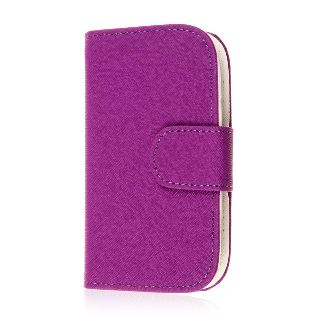 Samsung Galaxy Light - Purple MPERO FLEX FLIP Wallet Case Cover