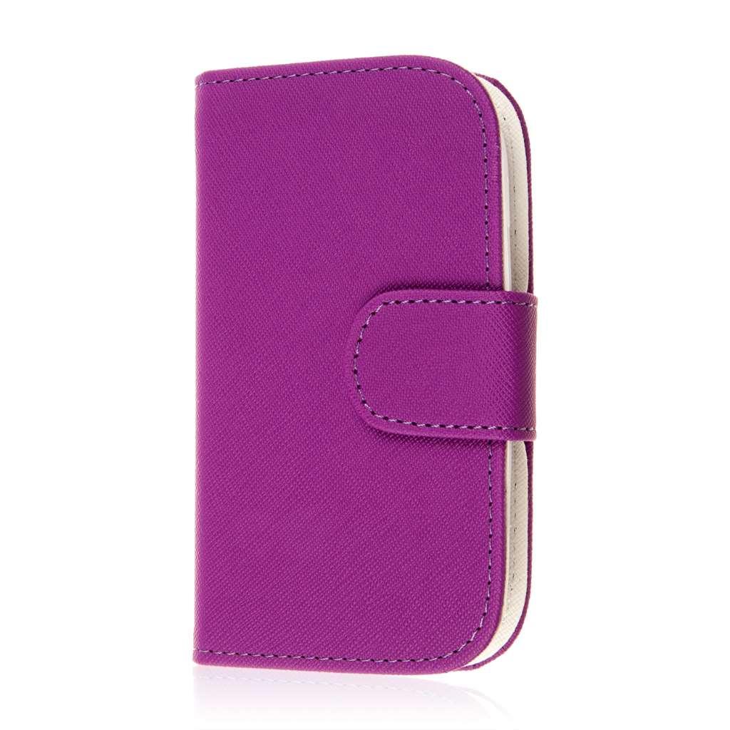 Samsung Galaxy Light - Purple MPERO FLEX FLIP Wallet Case Cover
