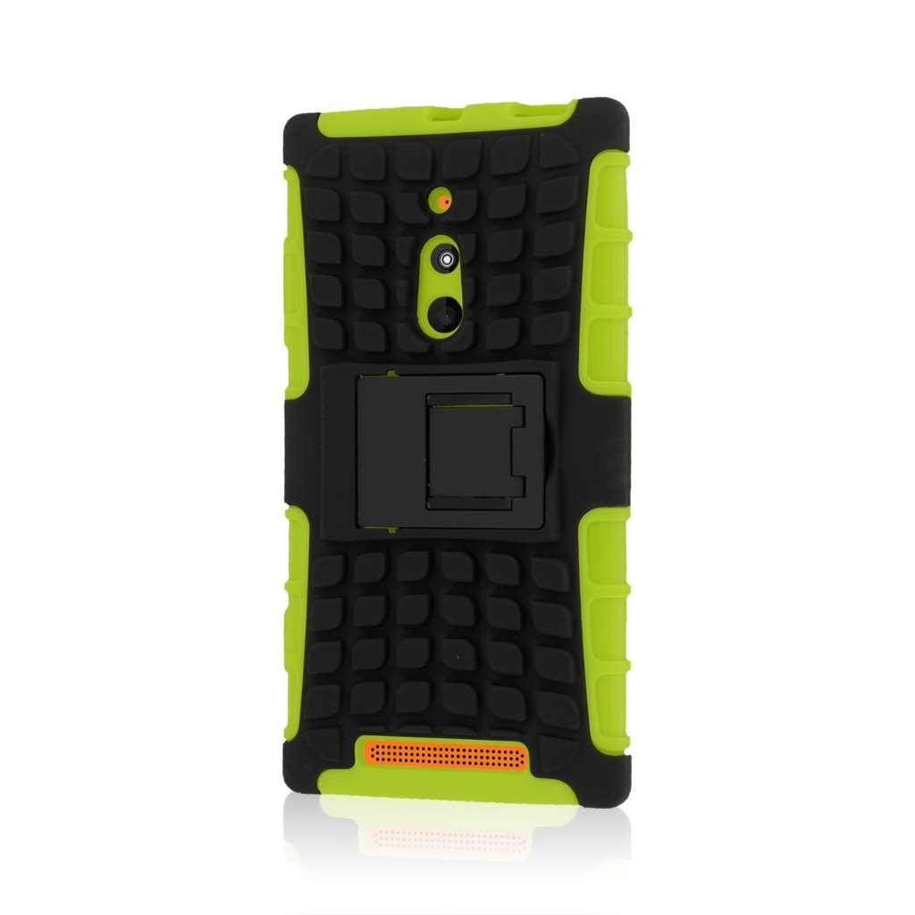 Nokia Lumia 830 - Neon Green MPERO IMPACT SR - Kickstand Case Cover