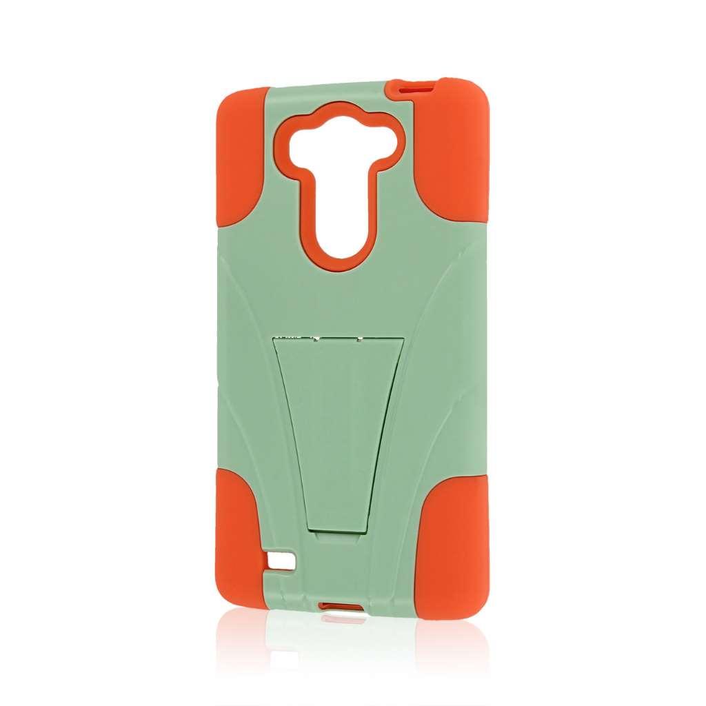 LG G Vista - Coral / Mint MPERO IMPACT X - Kickstand Case Cover