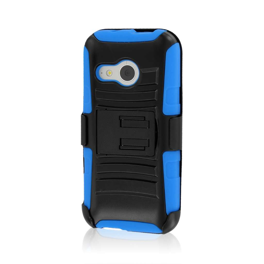 HTC One Mini 2 - Blue MPERO IMPACT XT - Kickstand Case Cover