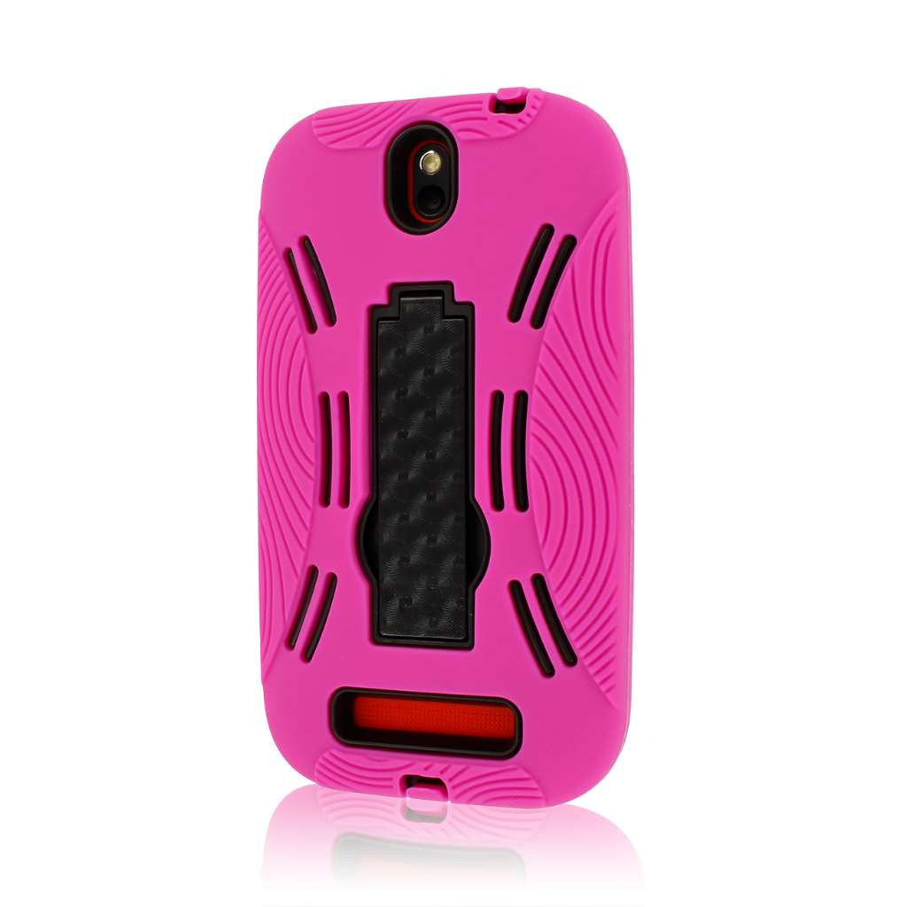 HTC One SV - HOT PINK MPERO IMPACT XL - Kickstand Case Cover