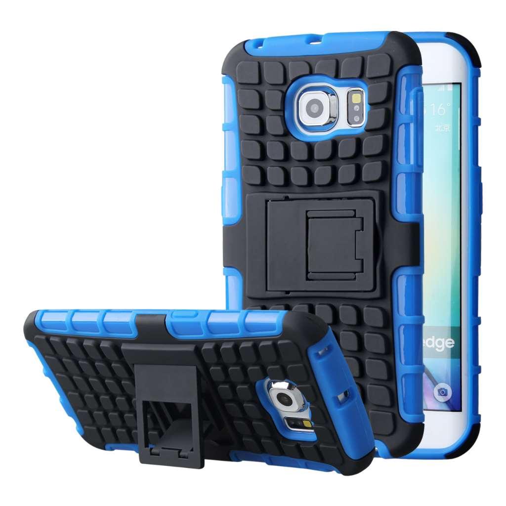 Samsung Galaxy S6 Edge - Blue MPERO IMPACT SR - Kickstand Case Cover