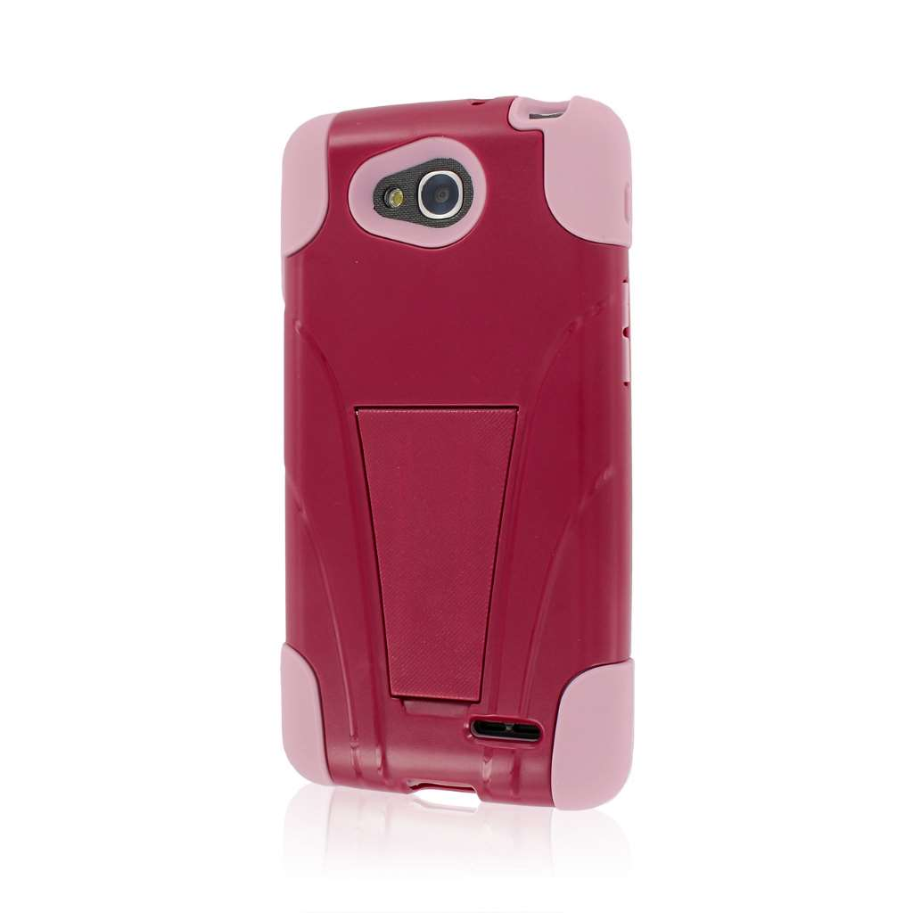 LG Optimus Exceed 2 - Hot Pink MPERO IMPACT X - Kickstand Case Cover