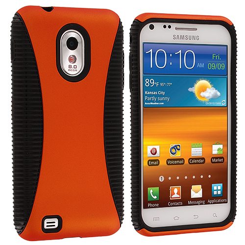 Samsung Epic Touch 4G D710 Sprint Galaxy S2 Black / Orange Hybrid Hard/TPU Case Cover