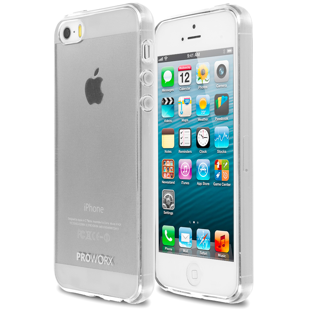 Apple iPhone 5/5S/SE Clear ProWorx Ultra Slim Thin Scratch Resistant TPU Silicone Case Cover
