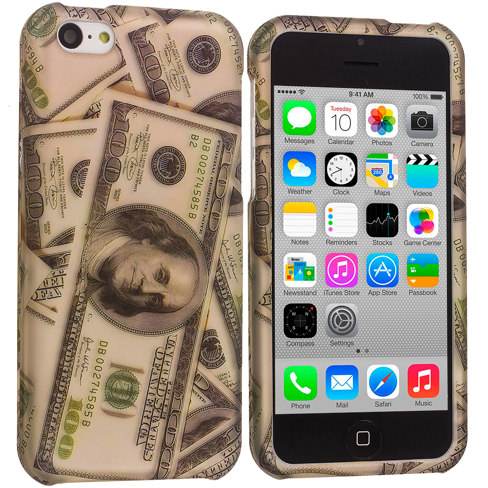Apple iPhone 5C Dollar Hard Rubberized Design Case Cover