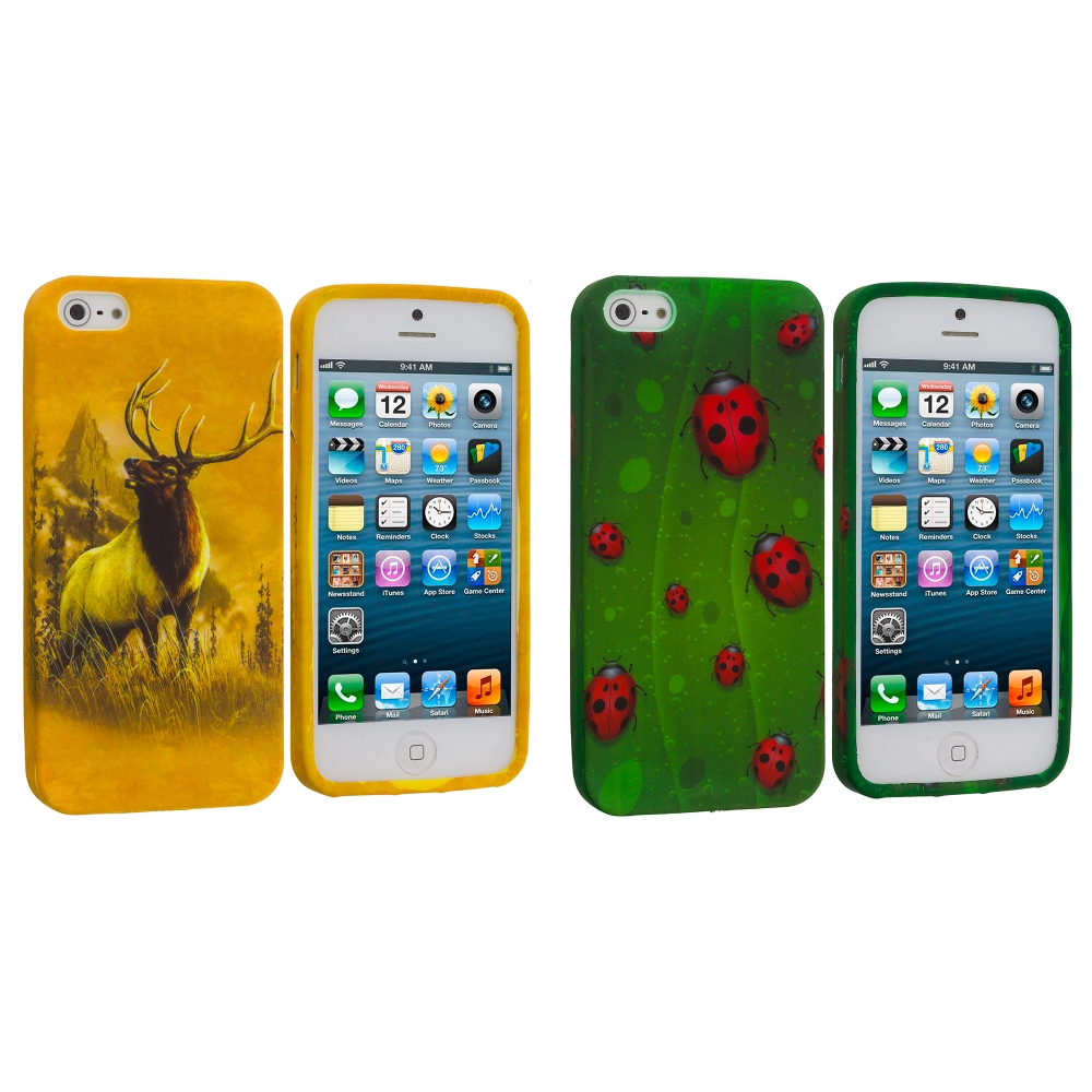 Apple iPhone 5/5S/SE Combo Pack : Deer TPU Design Soft Case Cover