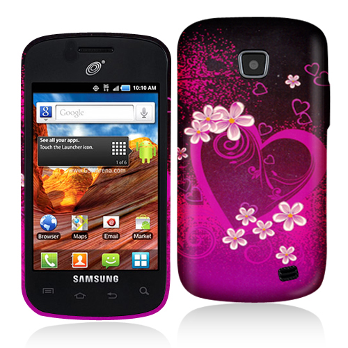 Samsung Proclaim S720C Purple Love Hard Rubberized Design Case Cover