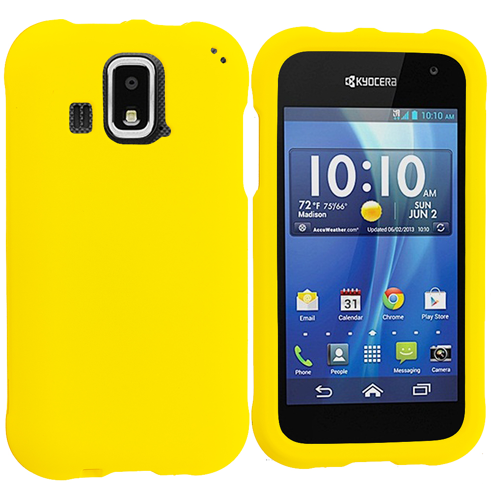 Kyocera Hydro XTRM Yellow Hard Rubberized Case Cover