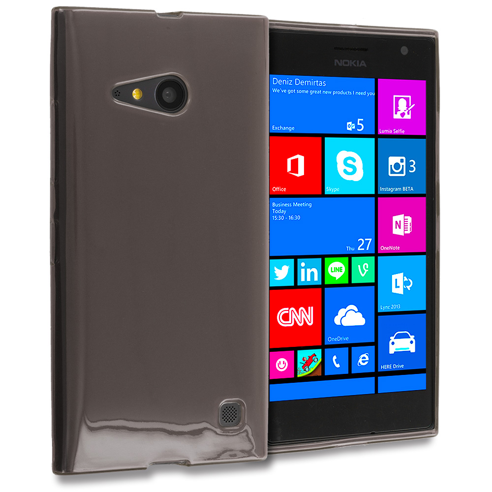 Nokia Lumia 730 735 Smoke TPU Rubber Skin Case Cover