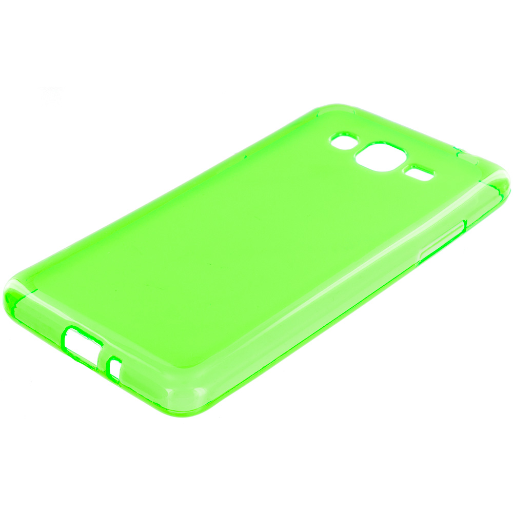 Samsung Galaxy Grand Prime LTE G530 Neon Green TPU Rubber Skin Case Cover
